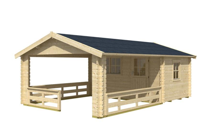 gartenhaus skanholz alicante terrassenhaus holzhaus mit. Black Bedroom Furniture Sets. Home Design Ideas