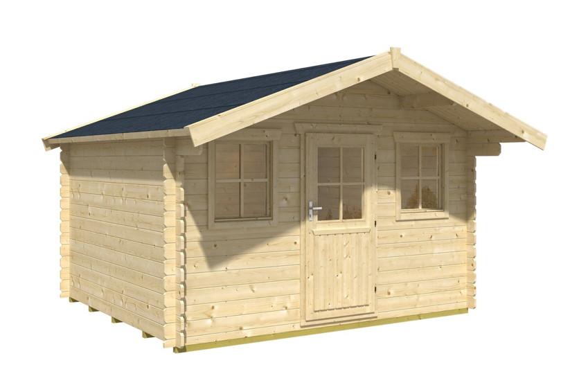 gartenhaus skanholz lagos blockbohlen holzhaus mit fenster vom gartenhaus fachh ndler. Black Bedroom Furniture Sets. Home Design Ideas