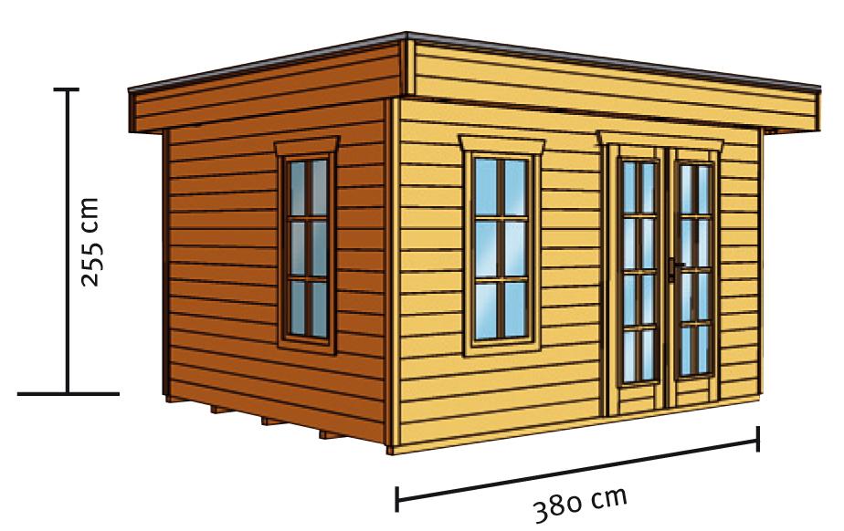 gartenhaus skanholz breda flachdach holzhaus mit fenster doppelt r online shop g nstig angebot. Black Bedroom Furniture Sets. Home Design Ideas