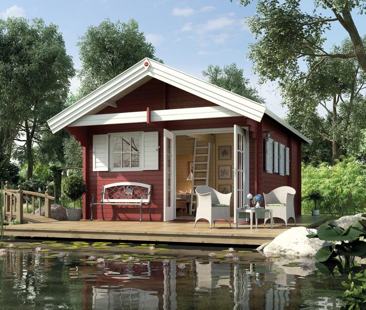 Ferienhaus WEKA u00abWeekendhaus 155u00bb Wochenend-Haus Holz-Haus ...