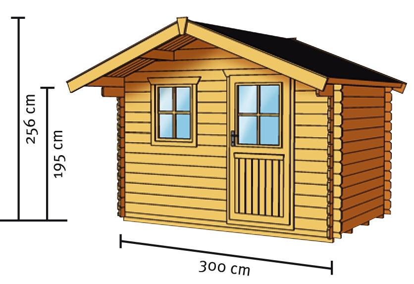 Gartenhaus skanholz como blockbohlen holzhaus mit - Fenster einfachverglasung gartenhaus ...