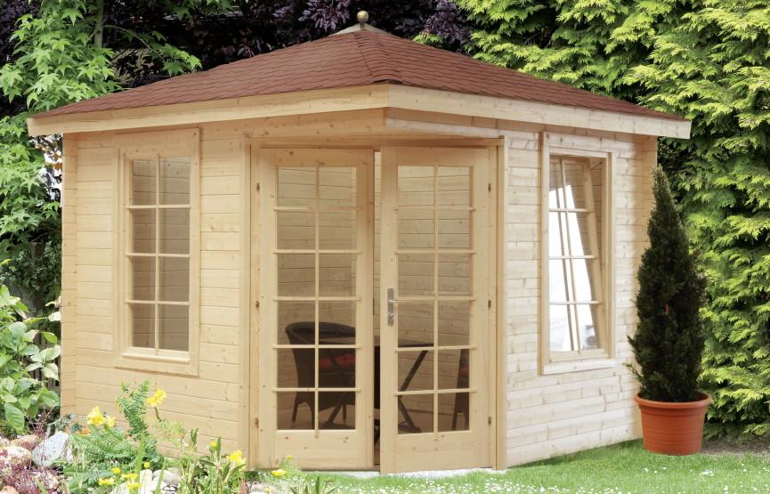 5 eck gartenhaus wolff julia 28 holz bausatz blockhaus. Black Bedroom Furniture Sets. Home Design Ideas