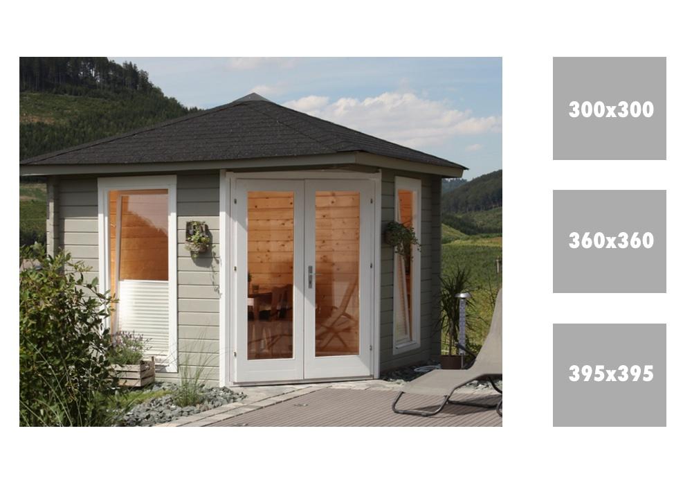 5 eck gartenhaus wolff katrin 44 holz doppelt r blockbohelnhaus online shop g nstig angebot. Black Bedroom Furniture Sets. Home Design Ideas
