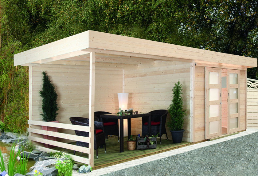 gartenhaus flachdach wolff pulti varianta 28st holz haus. Black Bedroom Furniture Sets. Home Design Ideas