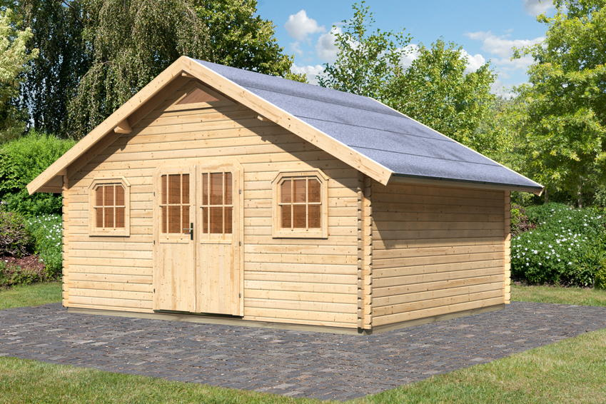 blockhaus selber bauen bei einem einschalig gebauten. Black Bedroom Furniture Sets. Home Design Ideas